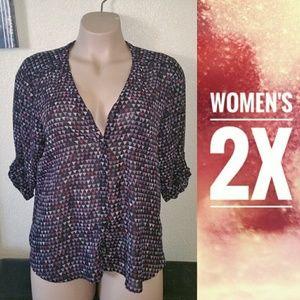 Women's 2x XXL Maurices Chiffon Blouse